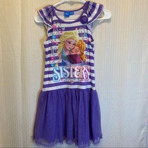 Disney Frozen dripped tank top tooled skirt dress